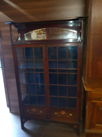 37. Victorian inlayed display cabinet