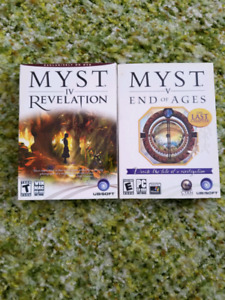 Myst 4 and 5 for PC - $40