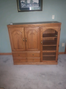Tv and entertainment cabinet unit