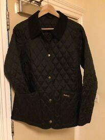 Women's Genuine Barbour Black 'Annandale' Quilted Jacket - UK Size 16