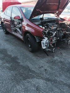 Parting out a 2006 Vw tdi red