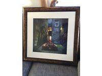 Three framed prints by Matilda Konecha. Brand new.