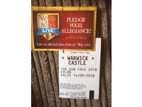 2 Warwick Castle Tickets