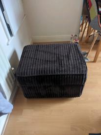 Brown Ottoman Footstool