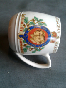 King George coronation mug
