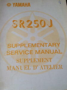 80 81 82 82 Yamaha SR250 Service and Supplement Manuals Regina Regina Area image 2