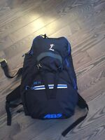 Abs avalanche bag with multiple size bag zips.