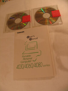 Manual 2 Discs Toshiba Satellite 4030/60/80 Laptop NEW PRICE