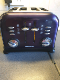 Morphy Richards Purple Toaster (only 2 slice working)