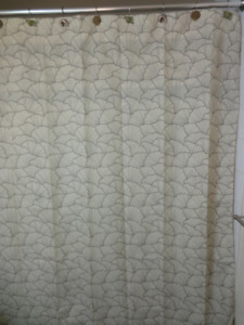 "Bathroom Shower curtain - ""Beige background with Brown Shells"""