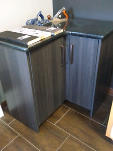Corner Cabinets with Granite Tops