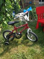 TWO BOYS BIKES WITH TRAINING WHEELS A+SHAPE $50/BOTH