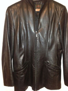 Danier Leather Jacket, black in like new condition
