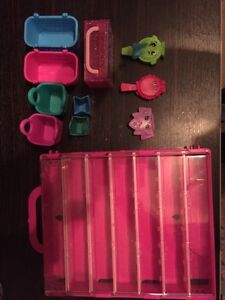 Shopkins display case + 10 other pieces