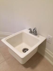 Sink with faucet/handles