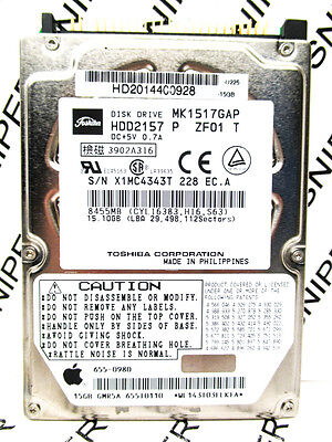 Toshiba 15GB MK1517GAP IDE HDD2157 P ZF01 T Laptop Hard Drive - WIPED & TESTED!