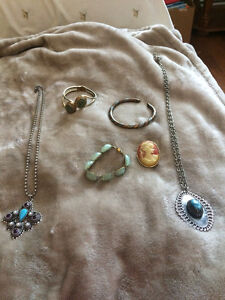 Lot of antique vintage costume jewelry Very antique