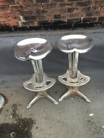 Chrome Industrial Tractor Seat Bar Stools