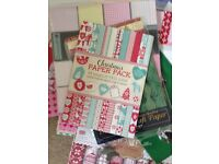 Huge job lot card stock and paper card making crafting