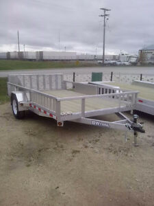 NEW SIDE LOAD AND REAR LOAD ALUMINUM UTILITY TRAILER BW TRAIL