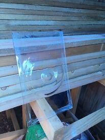 Reclaimed bullseye glass pane