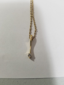 Womens  Gold  Diamond  0.25 kt  Pendant  Necklace