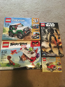 Sealed Lego lot of 4 sets 31037 75822 75120 31040 BRAND NEW