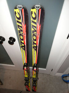 130cm Atomic Downhill Skis with Bindings - Great Condition!