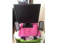 Acer pc monitor and speakers
