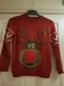 Next boys christmas jumper and t-shirt age 10