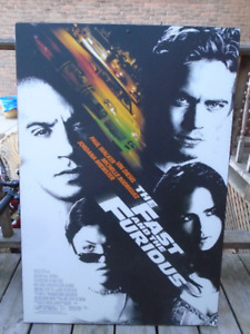 Fast and Furious mounted poster