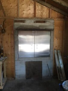 Insulated Steel Doors - smoker, pizza oven, etc doors