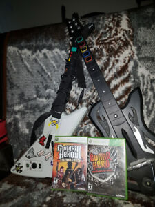 xBox 360 Guitar Hero set