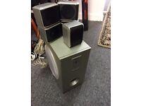 Alba home cinema system speakers kit surround sound base media