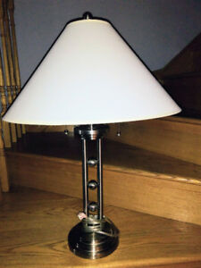 2 Stainless Steel Lamps
