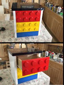 Lego themed bedroom night stand Regina Regina Area image 1