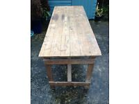 Large Solid Pine Folding Table