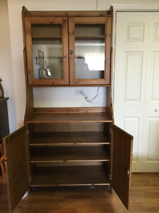 IKEA hutch, display cabinet
