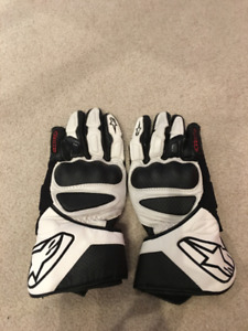 Alpinestars SP-8 Gloves Color: White/Black Size: XL