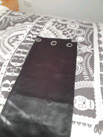 Balckout black silk curtains
