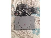 Ps1 with 2 controllers and wires