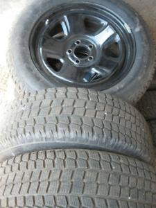 4 Winter tires with rims with sensor TPS 225/60R18 FIRESTONE.
