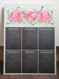 Shabby Chic weekly planner board
