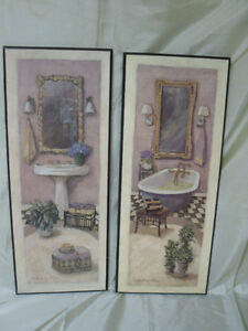 Lovely 20 x 8 inch vintage looking Bathroom pictures