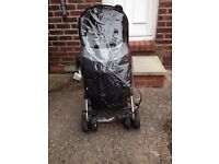 Hauck condor pushchair with apron&raincover, only 6mths old.