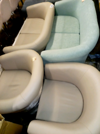 Tub chairs Single £40. 2 seater £70. RBW Clearance Outlet Leicester Ci