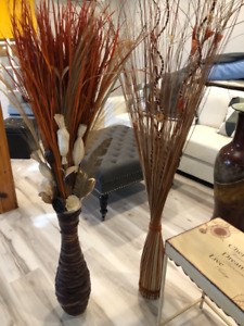 Home decor faux straw plants from winners