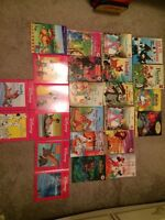 Disney kids books (french) with bag