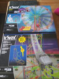 K'nex battery powered Rollercoaster & Ferris wheel
