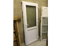 Double glazed external UPVC door with obscured glass